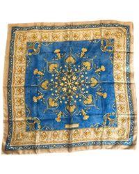 Balmain Silk Scarf - Blue