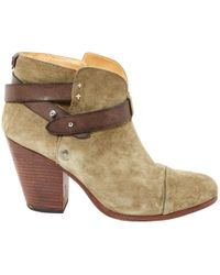 Rag & Bone - Pre-owned Khaki Suede Ankle Boots - Lyst