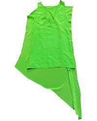 Acne Studios Silk Mini Dress - Green