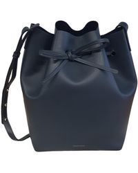 Mansur Gavriel Bucket Leder Handtaschen - Blau