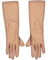 Louis Vuitton Leather Long Gloves - Brown