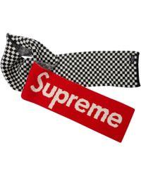 Supreme Wool Scarf & Pocket Square - Red
