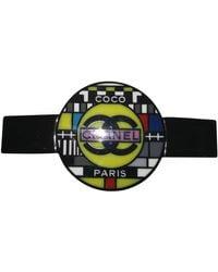 Chanel Accessorio per capelli in plastica multicolore