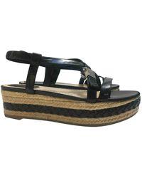 Dior Patent Leather Sandals - Black