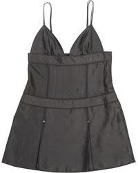 Louis Vuitton - Anthracite Silk Dress - Lyst
