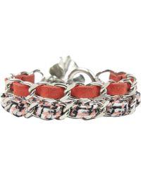 Chanel - Red Metal Bracelets - Lyst