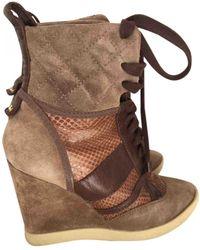 Chloé Lace Up Boots - Multicolour