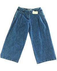 Michael Kors Blue Cotton Jeans