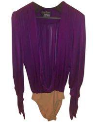 Ferragamo Silk Blouse - Purple