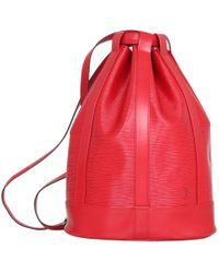 Louis Vuitton - Pre-owned Randonnée Leather Backpack - Lyst