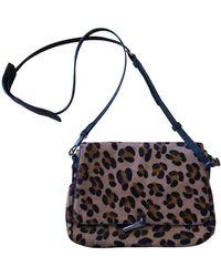 Elizabeth and James Brown Pony-style Calfskin Handbag