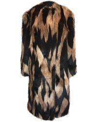 Givenchy Multicolor Faux Fur Coat