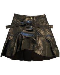 Maje Fw18 Patent Leather Mini Skirt - Black