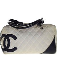 5204de6263a4 Lyst - Chanel Pre-owned Cambon Leather Crossbody Bag in Pink