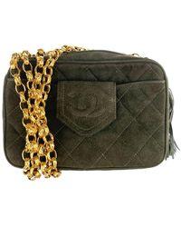 Chanel - Camera Green Suede Handbag - Lyst