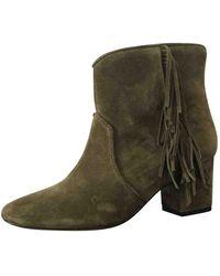 Ba&sh Khaki Leather Ankle Boots - Multicolour