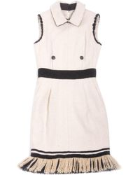 Chanel White Cashmere Dress