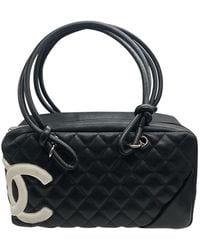 Chanel Sac à main Cambon en Cuir Noir
