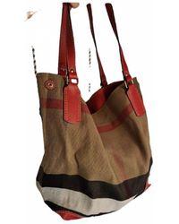 Burberry Leinen Handtaschen - Rot