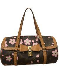 Louis Vuitton Papillon Leinen Handtaschen - Mehrfarbig