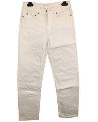Acne Studios Row Straight Jeans - White
