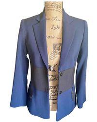 Longchamp Blazer en laine - Bleu