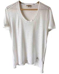 Burberry Linen T-shirt - White
