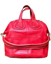 Givenchy Nightingale Red Leather Handbag
