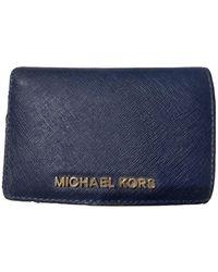 Michael Kors Portafoglio Jet Set in Pelle - Blu