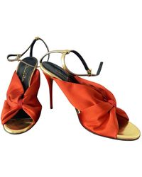 Oscar de la Renta Cloth Sandal - Red