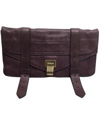 Proenza Schouler Ps1 Purple Leather Clutch Bag