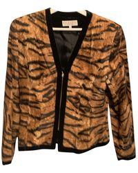 Dior Faux Fur Jacket - Multicolour
