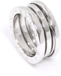 BVLGARI - B.zero1 Silver White Gold Ring - Lyst