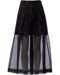 Chanel Jupe en Soie Noir