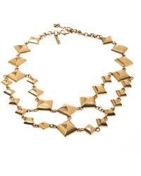 Oscar de la Renta Gold Necklace - Metallic