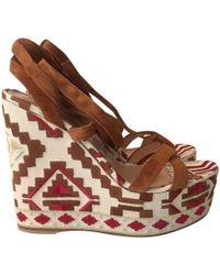Gianvito Rossi - Pre-owned Multicolour Suede Sandals - Lyst