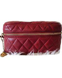 Chanel Leder Handtaschen - Rot