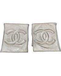 Chanel Guanti in pelle argentato - Multicolore