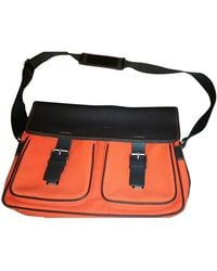 Lancel Leinen Business tasche - Orange