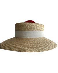Chanel Beige Wicker Hat - Natural