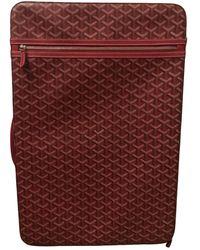 Goyard Cloth Travel Bag - Red