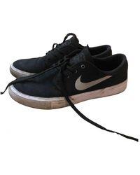 Nike Sb Stefan Janoski Cloth Trainers - Black