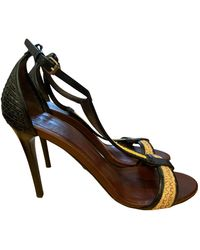 Burberry Leather Heels - Multicolor