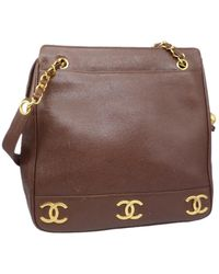 Chanel Leather Tote - Brown