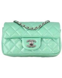 Chanel - Pre-owned Timeless Patent Leather Mini Bag - Lyst
