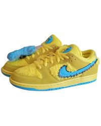 Nike X Grateful Dead baskets SB Dunk Low - Jaune