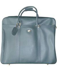 Ferragamo Leather Weekend Bag - Green