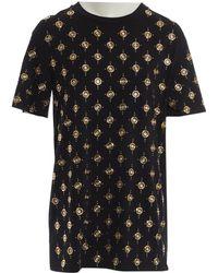 d2bd92c8327287 Balmain Ribbed Layer T-shirt in Black - Lyst