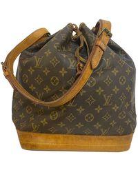Louis Vuitton Noé Leinen Handtaschen - Braun
