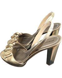 Diane von Furstenberg Gold Leather Sandals - Multicolor